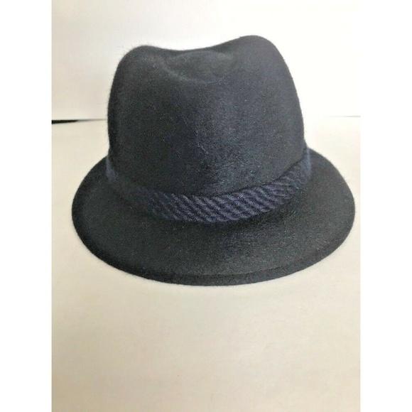 1ac873af6 Vintage Geiger Salzburg Navy Blue Felt Wool Hat